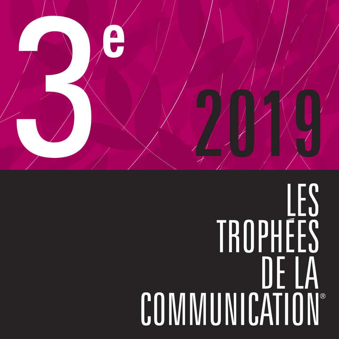 3ème aux trophées de la communication