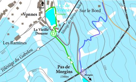 Snowshoe trail - Pas de Morgins