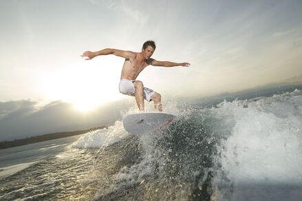 Wakesurf sur le Léman