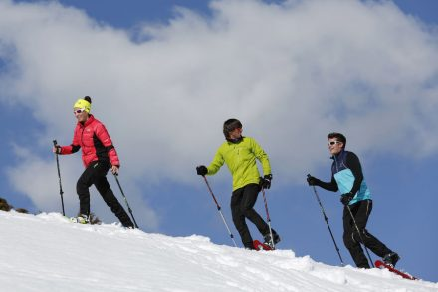 Snowshoe walk : Essert descent
