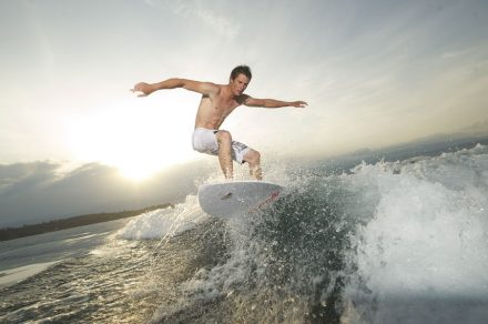 Wakesurf on lake