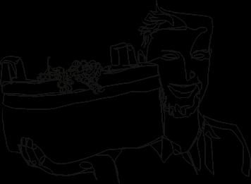 dessin crayonné vigneron