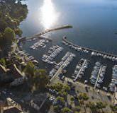 Vue drone lac Léman