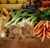 stand de légumes sur le marché de Thonon