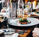 Restaurants, table dressée