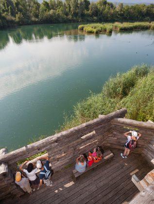 Visite de la réserve naturelle du delta de la Dranse