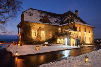 Château de Sonnaz sous la neige