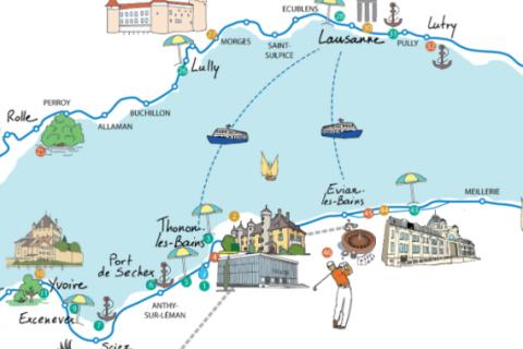 Carte Interactive du lac Léman